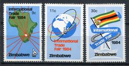 Simbabwe Zimbabwe Mi# 286-8 Postfrisch/MNH - International Trade Fair, Map, Flag - Zimbabwe (1980-...)