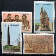 Simbabwe Zimbabwe Mi# 293-6 Postfrisch/MNH - Black Heroes, Monument, Uprising - Zimbabwe (1980-...)