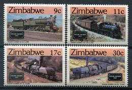 Simbabwe Zimbabwe Mi# 303-6 Postfrisch/MNH - Trains, Coal, Mining - Zimbabwe (1980-...)