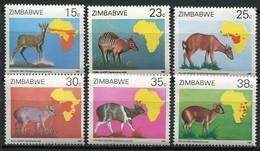 Simbabwe Zimbabwe Mi# 368-73 Postfrisch/MNH - Fauna Antilopes - Zimbabwe (1980-...)