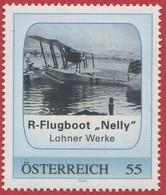"""ÖSTERREICH / PM R-Flugboot """"Nelly"""" - Lohner Werke / Postfrisch / ** / MNH - Private Stamps"""