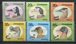 Simbabwe Zimbabwe Mi# 390-5 Postfrisch/MNH - Fauna Birds, Ducks - Zimbabwe (1980-...)