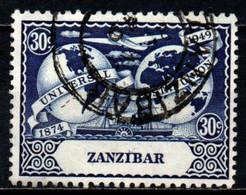 ZANZIBAR - 1949 - 75° ANNIVERSARIO DELL'UPU - USATO - Zanzibar (...-1963)