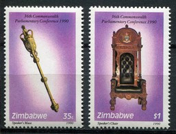 Simbabwe Zimbabwe Mi# 448-9 Postfrisch/MNH - CPC, Chair, Artefacts - Zimbabwe (1980-...)