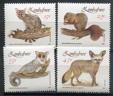 Simbabwe Zimbabwe Mi# 450-3 Postfrisch/MNH - Fauna, Lesser Mamals - Zimbabwe (1980-...)