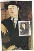 Carte Maximum Peinture Painting  Italie Italia Modigliani - Cartas Máxima
