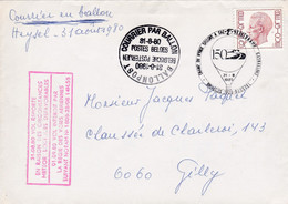 2 Scans Enveloppe Elström 1962 Courrier Par Ballon Ballonpost Heysel Gilly - Lettres & Documents