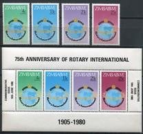 Simbabwe Zimbabwe Mi# 242-5 + Block 5  Postfrisch/MNH - Rotary - Zimbabwe (1980-...)