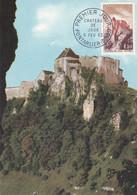 FRANCE, CARTE MAXIMUM, Chateau De JOUX, Pontarler  6 Fév 1963 - 1960-69