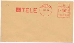 Meter Slogan Test Cover Francotyp / TELE, Phone Company - 30 December 1974 Godthåb, Nûk - Automatenmarken