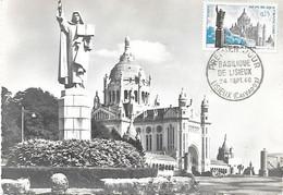 Cm Basilique De Lisieux Cachet PJ Lisieux 24 Sept.60 - 1960-69
