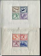Deutsches Reich - Michel Block 5/6 Olympia Ungebr.*/MH - Blocks & Sheetlets