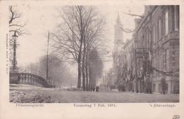 1850301's Gravenhage, Princessegracht Versiering 7 Feb. 1901 (zie Achterkant) - Den Haag ('s-Gravenhage)