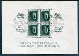 Deutsches Reich - Michel Block 11 Sostpl. Schaffendes Volk (selten) - Blocks & Sheetlets