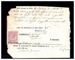 ITALIA - 1868   MARCA DA BOLLO - Fiscaux