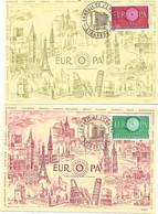 2 Cm Europa 1960 Strasbourg Conseil De L'Europe 17 Sept. 1960 - 1960-69