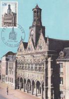 FRANCE, CARTE MAXIMUM, Saint Quentin, L'hotel De Ville, Saint Quentin 8 Juil 1967 - 1960-69