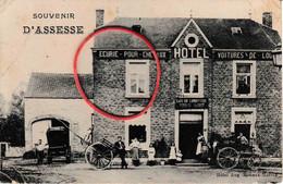 Souvenir D'Assesse Hôtel Aug. Rouaux Harroz Café De L'industrie Animation 1907 - Assesse