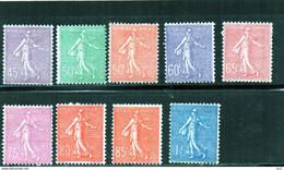 FRANCE Charniere * (197/205) - 1903-60 Semeuse Lignée
