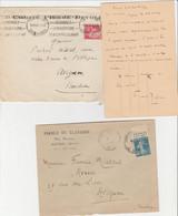 FRANCE FELIBRIGE  PROVENCAL  FREDERIC MISTRAL  3 LETTRES - 1921-1960: Periodo Moderno