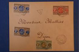 C  ST PIERRE & MIQUELON BELLE LETTRE.1923 SAINT PIERRE + T DS UN TRIANGLE+ AFFRANCHISSEMENT PLAISANT - Lettres & Documents