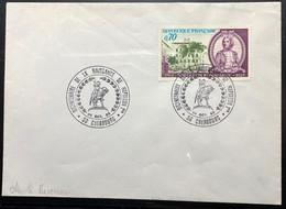 Enveloppe Avec N° 1610 Bicentenaire De La Naissance De Napoléon 1er Cachet De Cherbourg - Cachets Commémoratifs