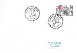 """Bicentenaire De La Révolution 88 Thaon Les Vosges 17 Juin 1989 """" E. Sieyes - Cachets Commémoratifs"""