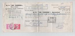 """REF3070/TP1067-1069 Baudouin Lunettes S/Wisselbrief 1285 Frs De N.V.""""De Torens"""" Aarschot > Aartrijke C.Ichtegem 27/11/64 - Lettres & Documents"""