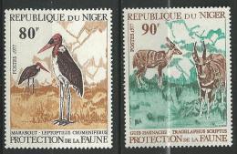 "Niger YT 394 & 395 "" Protection De La Faune "" 1977 Neuf** - Niger (1960-...)"