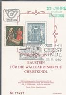 Österreich 1982: ET Baustein Für Die Wallfahrtskirche Christkindl V. 25.11.1982 - FDC