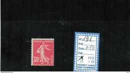 FRANCE LUXE ** - N° 191 - 1906-38 Semeuse Camée
