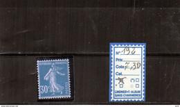 FRANCE LUXE ** - N°192 - 1906-38 Semeuse Camée
