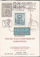 Österreich 1985: ET Baustein Für Die Wallfahrtskirche Christkindl V. 26.11.1985 - FDC