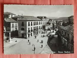 CARTOLINA PIZZO CALABRO PIAZZA UMBERTO I - VIAGGIATA - ANNI '50 - Otras Ciudades