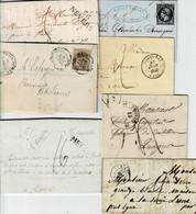 Lot3- 11 Lettres - 1849-1876: Période Classique