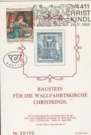 Österreich 1993: ET Baustein Für Die Wallfahrtskirche Christkindl V. 26.11.19893 - 1991-00 Cartas