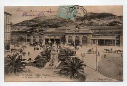 - CPA TOULON (83) - Place Vauban Et La Gare Du P. L. M. 1905 (belle Animation) - Edition Bougault 744 - - Toulon