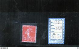 FRANCE LUXE ** - N° 195 - 1906-38 Semeuse Camée