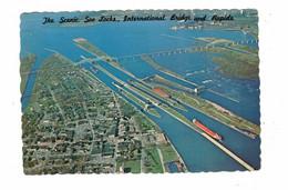SAULT STE. MARIE, Ontario, Canada, Scenic Soo Locks, International Bridge & Rapids, 1985 4X6 Chrome Postcard - Andere