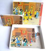 Puzzle NATHAN 100 Pièces 1992 - TINTIN  LE LOTUS BLEU -  COMPLET AVEC POSTER - Puzzles
