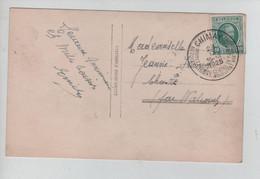 REF3076/ TP 194 Houyoux S/CP Anniversaire C. Touristique Chimay 23/9/1925 - Cartas