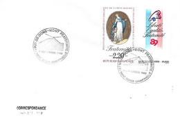 """Bicentenaire De La Révolution 63 Saint Genes Champanielle 9 Septembre 1989 """"Puy-de-Dome Fraternité - Cachets Commémoratifs"""