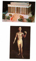 2 Different NIAGARA FALLS, Ontario, Ripley's Believe It Or Not, Lincoln Memorial & Masakichi Statue, Old Chrome Postcard - Niagara Falls