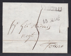 Italy - 1821 Entire Letter - Vercelli To Torino - 1. ...-1850 Prephilately