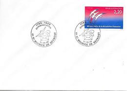 """Bicentenaire De La Révolution 01 St Maurice De Beynost 10-06-89 """"Communication - Cachets Commémoratifs"""