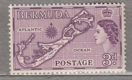 BERMUDA 1953 Elizabeth II Map MNH (**) Mi 135 #17008 - Bermuda