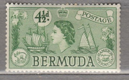 BERMUDA 1953 Elizabeth II Ships MNH (**) Mi 137 #17009 - Bermuda