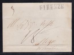 Italy - 1841 Entire Letter - Firenze To Steyr Austria - 1. ...-1850 Prefilatelia