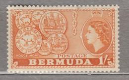 BERMUDA 1953 Elizabeth II MVLH (**/*) Mi 141 #17011 - Bermuda