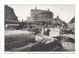 2018 Slovakia 1968 Revolution Tanks Democracy Souvenir Sheet  MNH @ BELOW FACE VALUE - Ongebruikt